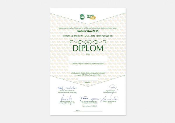 Návrh diplomu pro výstavu Natura Viva