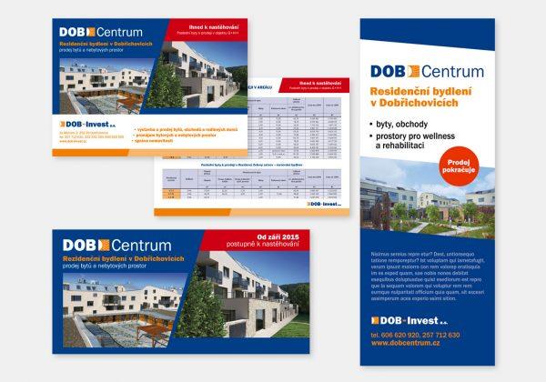 Reklamní materiály pro projekt DOB Centrum