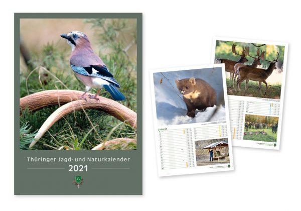 Návrh a sazba kalendáře pro Landesjagdverband Thüringen