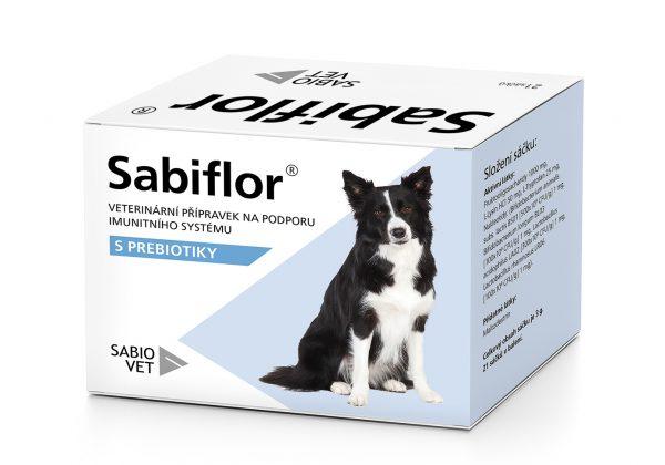 Zpracování krabičky veterinárního přípravku Sabiflor