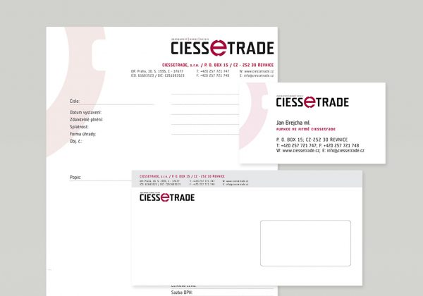 Firemní styl | návrh logotypu a merkantilu značky Ciessetrade
