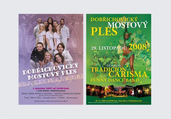 Zpracování plakátů pro Dobřichovický mostový ples