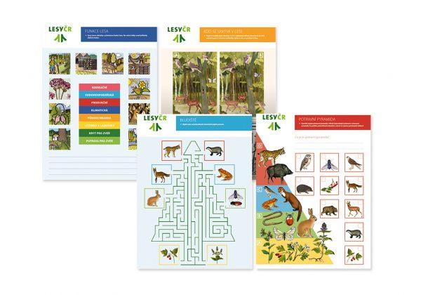 Návrh výukových listů pro Lesy ČR