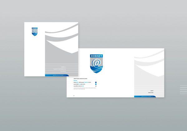Firemní design manuál firmy DOBNET