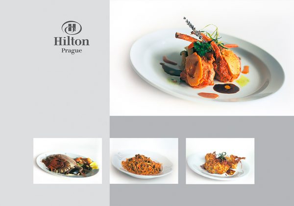 Fotografie aktuálního menu restaurace hotelu Hilton Prague