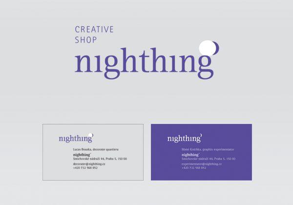 Návrh logotypu a merkantilu nighthing