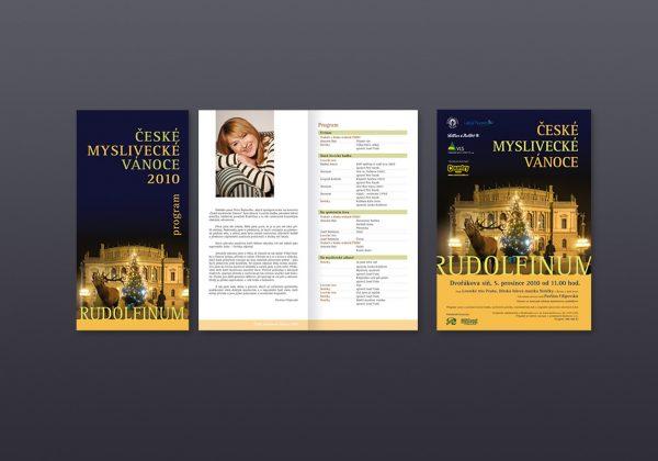 Návrhy všech propagačních materiálů pro každoroční vánoční koncert České Myslivecké Vánoce | návrh a zpracování webových stránek akce