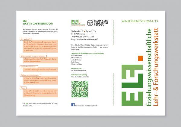 Návrh letáku pro Technickou univerzitu v Drážďanech