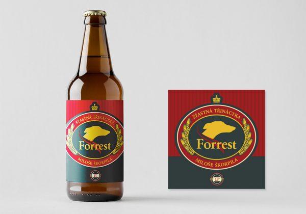Návrh etikety Forrest