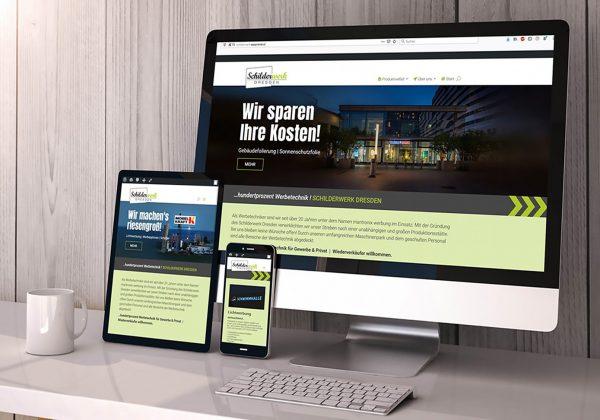 Responzivní webová prezentace pro Schilderwerk Dresden